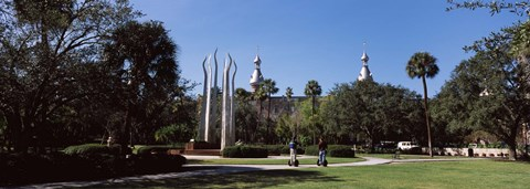 Framed University students in the campus, Plant Park, University Of Tampa, Tampa, Hillsborough County, Florida, USA Print