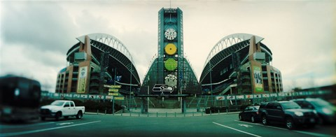 Framed Facade of a stadium, Qwest Field, Seattle, Washington State, USA Print
