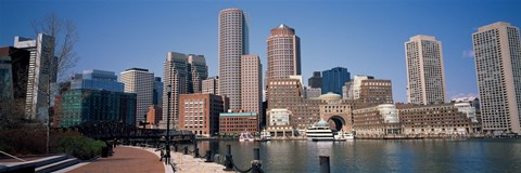 Framed Buildings in a city, Boston, Suffolk County, Massachusetts, USA Print
