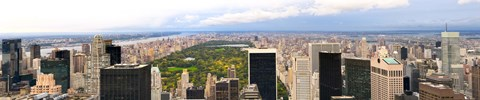 Framed Aerial view of a city, Central Park, Upper Manhattan, Manhattan, New York City, New York State, USA Print
