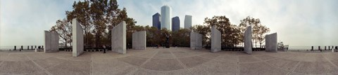 Framed 360 degree view of a war memorial, East Coast Memorial, Battery Park, Manhattan, New York City, New York State, USA Print