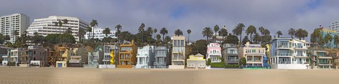Framed Houses on the beach, Santa Monica, Los Angeles County, California, USA Print