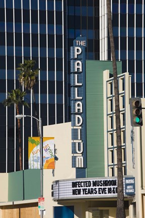 Framed Theater in a city, Hollywood Palladium, Hollywood, Los Angeles, California, USA Print