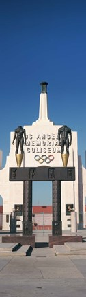 Framed Entrance of a stadium, Los Angeles Memorial Coliseum, Los Angeles, California, USA Print