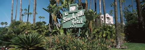 Framed Signboard of a hotel, Beverly Hills Hotel, Beverly Hills, Los Angeles County, California, USA Print