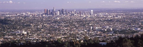 Framed Aerial View of Los Angeles from a Distance Print