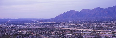 Framed Tuscon, Arizona with Mountains Print