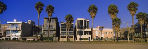 Framed Buildings in a city, Venice Beach, City of Los Angeles, California, USA Print