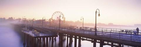 Framed Pier with ferris wheel in the background, Santa Monica Pier, Santa Monica, Los Angeles County, California, USA Print