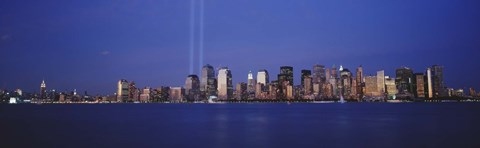 Framed Tribute in Light, World Trade Center, Lower Manhattan, Manhattan, New York City, New York State, USA Print
