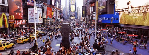 Framed People in a city, Times Square, Manhattan, New York City, New York State, USA Print