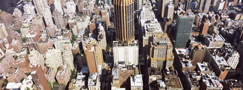 Framed High angle view of buildings in a city, Manhattan, New York City, New York State, USA Print