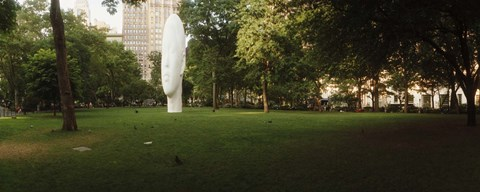 Framed Large head sculpture in a park, Madison Square Park, Madison Square, Manhattan, New York City, New York State, USA Print