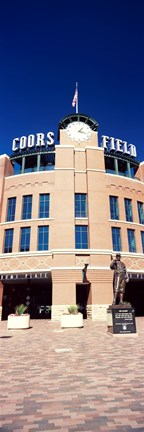Framed Facade of a baseball stadium, Coors Field, Denver, Denver County, Colorado, USA Print