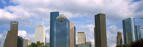 Framed Low angle view of skyscrapers, Houston, Texas, USA Print