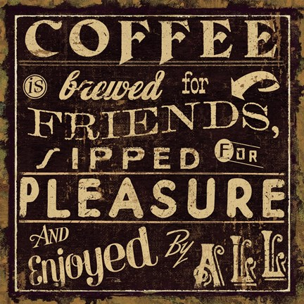 Framed Coffee Quote II Print