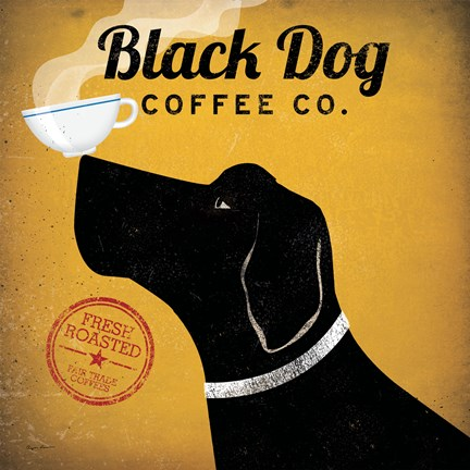 Framed Black Dog Coffee Co. Print