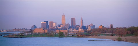 Framed Skyline from the Water, Cleveland, Ohio Print