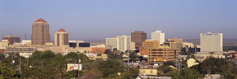 Framed Buildings in a city, Albuquerque, New Mexico, USA Print