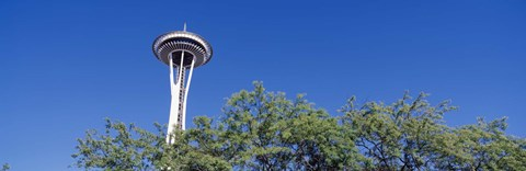Framed Low angle view of a tower, Space Needle, Seattle Center, Seattle, King County, Washington State, USA Print
