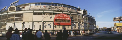 Framed Wrigley Field during the day, USA, Illinois, Chicago Print