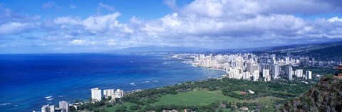 Framed Blue Waters of Waikiki, Hawaii Print