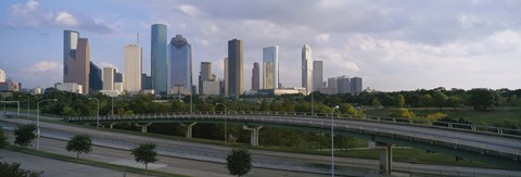 Framed Houston Skyline from a Distance, Texas, USA Print