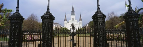 Framed Facade of a church, St. Louis Cathedral, New Orleans, Louisiana, USA Print
