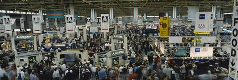 Framed Trade show in a hall, McCormick Place, Chicago, Cook County, Illinois, USA Print