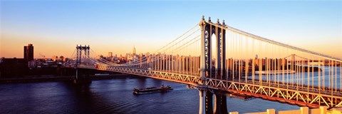 Framed Manhattan Bridge, NYC, New York City, New York State, USA Print