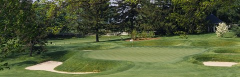 Framed Sand traps on the golf course at Baltimore Country Club, Baltimore Print
