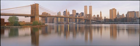 Framed Brooklyn Bridge Manhattan New York City NY Print