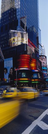 Framed Traffic on a street, Times Square, Manhattan, New York City, New York State, USA Print