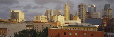 Framed Kansas City, Missouri Skyline Print