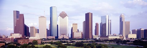 Framed Houston, Texas Skyline Print