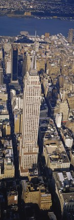 Framed Aerial View Of Empire State Building, Manhattan, NYC, New York City, New York State, USA Print