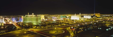 Framed Night view of Las Vegas, Nevada Print