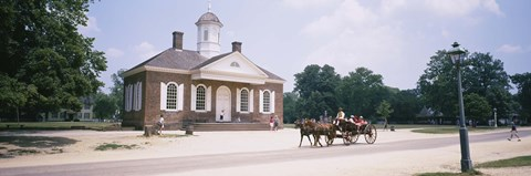 Framed Carriage moving on a road, Colonial Williamsburg, Williamsburg, Virginia, USA Print