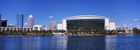Framed Buildings at the waterfront, St. Pete Times Forum, Tampa, Florida, USA Print
