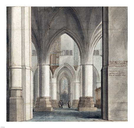 Framed Choir and North Ambulatory of the Church of Saint Bavo Print