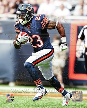 Framed Devin Hester Carrying Football Print
