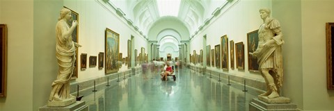 Framed Interior Of Prado Museum, Madrid, Spain Print