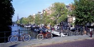 Netherlands, Amsterdam, bicycles Art