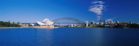 Framed Sydney Opera House and Bridge Print