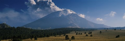 Framed Clouds over a mountain, Popocatepetl Volcano, Mexico Print