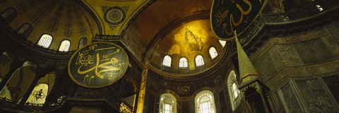 Framed Low angle view of a ceiling, Aya Sophia, Istanbul, Turkey Print