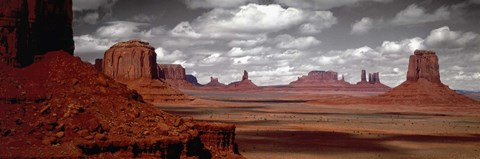 Framed Mountains, West Coast, Monument Valley, Arizona, USA, Print