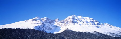 Framed Snow Covered Mountain, Banff National Park Alberta Canada Print