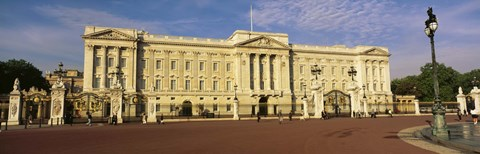 Framed Facade of a palace, Buckingham Palace, London, England Print