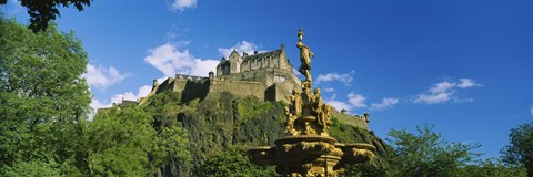 Framed Low Angle View of Edinburgh Castle, Edinburgh, Scotland Print